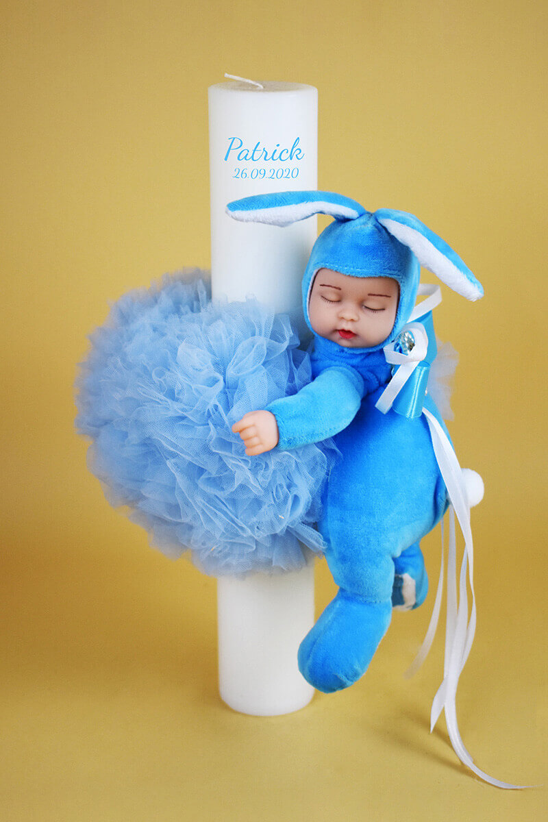 LUMANARE BOTEZ BABY BLUE 1 - MajesticBaby.ro