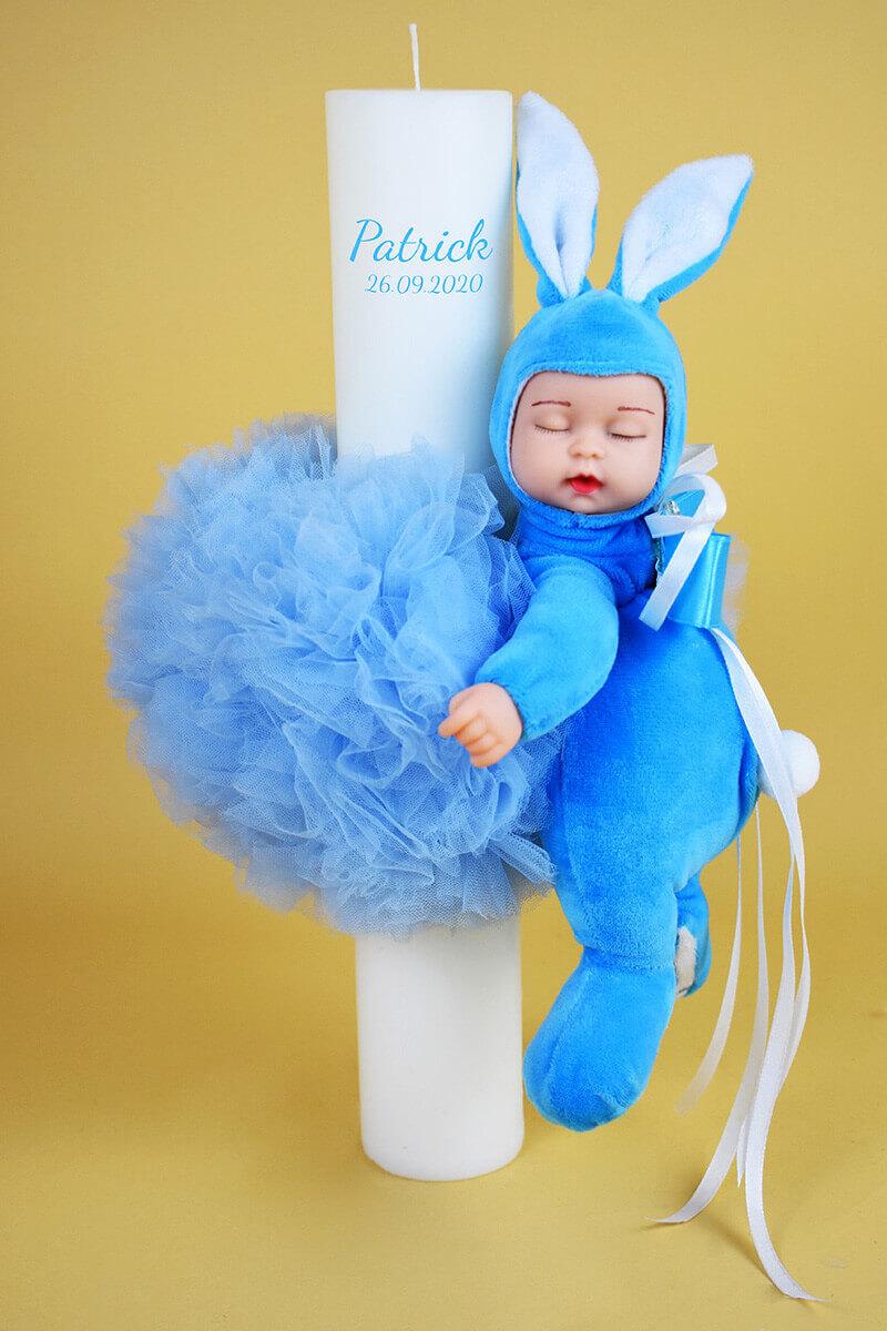 LUMANARE BOTEZ BABY BLUE 2 - MajesticBaby.ro
