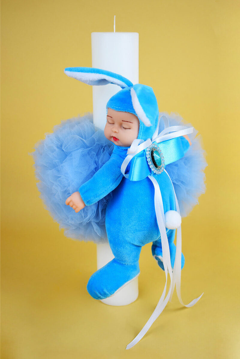 LUMANARE BOTEZ BABY BLUE 3 - MajesticBaby.ro
