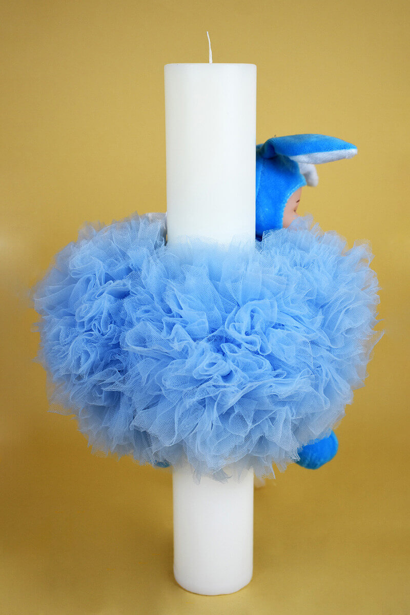 LUMANARE BOTEZ BABY BLUE 4 - MajesticBaby.ro
