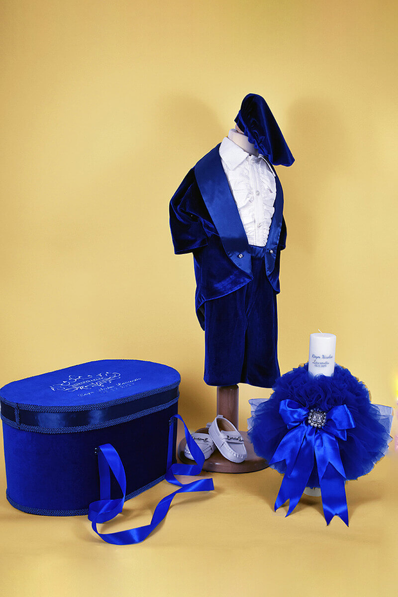 TRUSOU BOTEZ ROYAL BLUE - MajesticBaby.ro