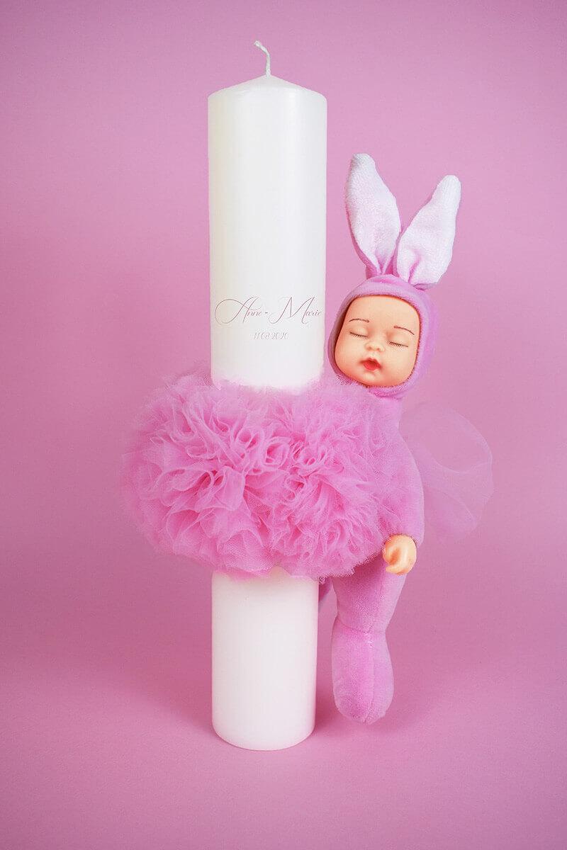 LUMANARE BOTEZ BABY PINK 1 - MajesticBaby.ro